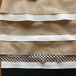 White House Black Market Skirts - White/ Black Layered Skirt in perfect condition.